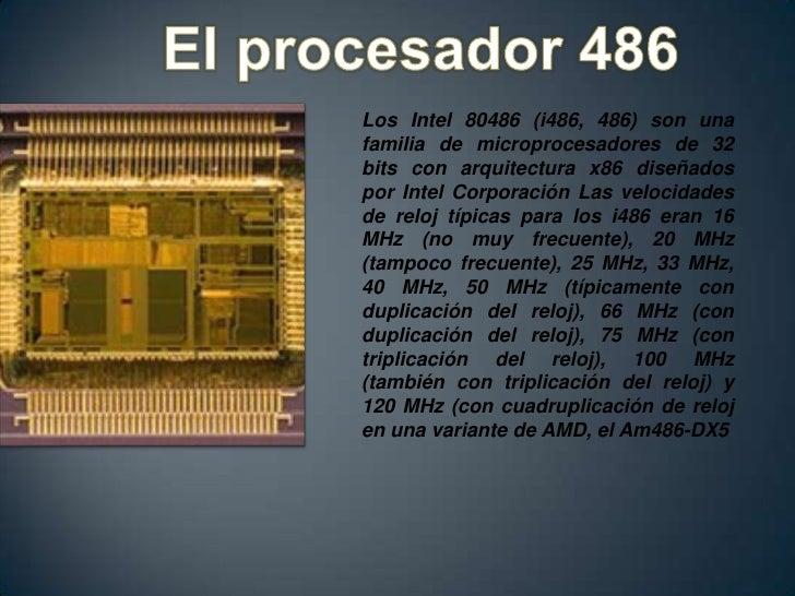 Evolucion de los procesadores