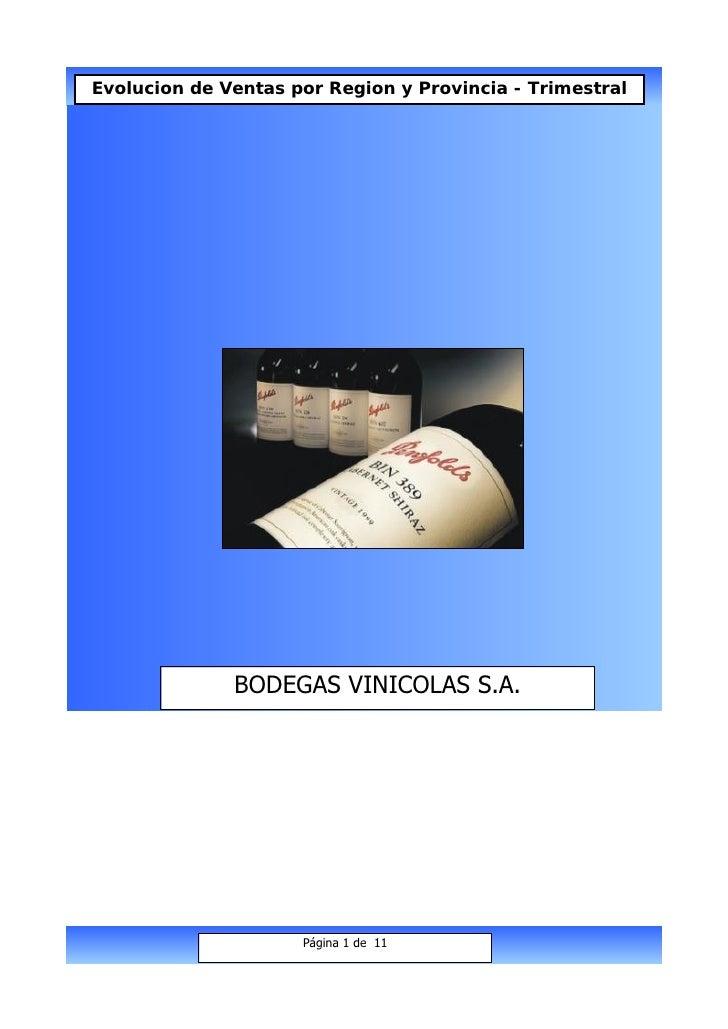 Evolucion de Ventas por Region y Provincia - Trimestral                   BODEGAS VINICOLAS S.A.                          ...