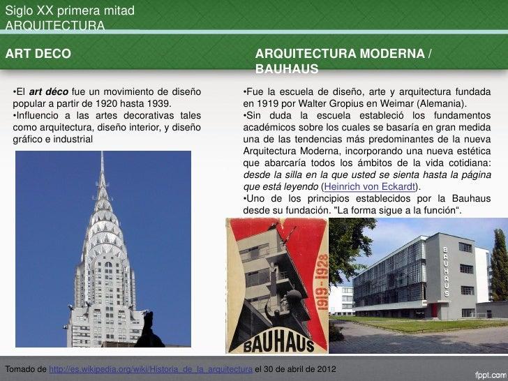 Evolucion historica arquitectura for Arquitectura del siglo 20