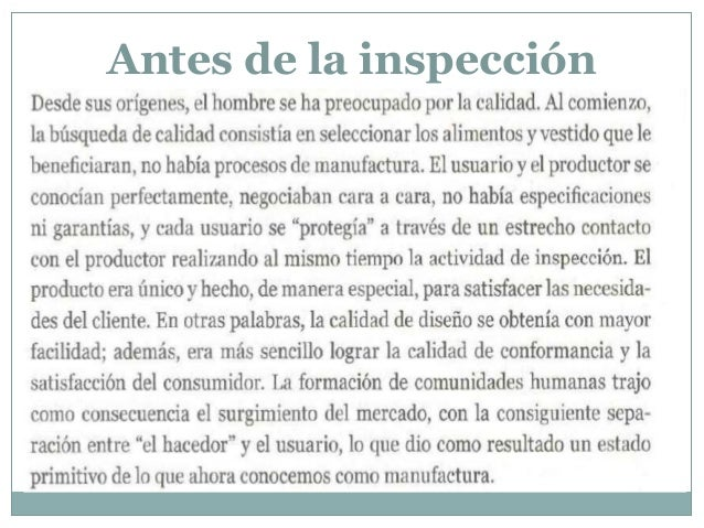 Antes de la inspección