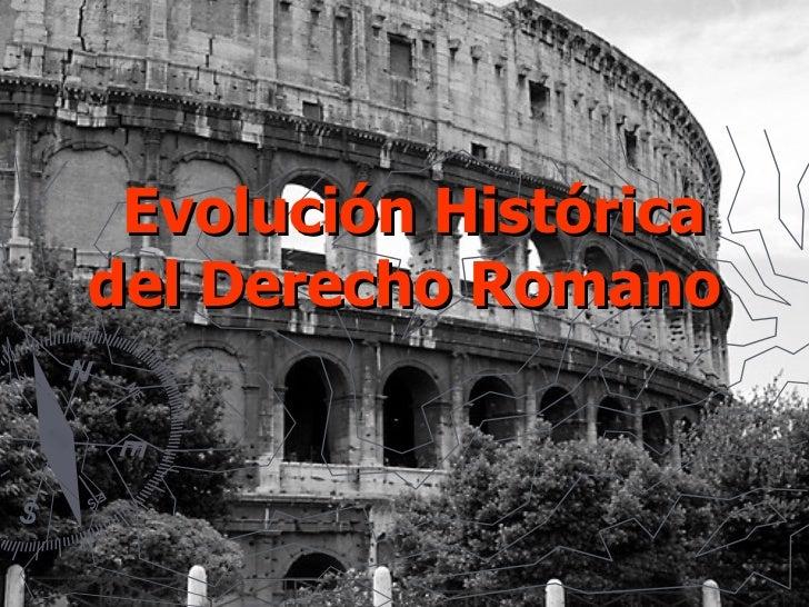 Evolución Histórica del Derecho Romano