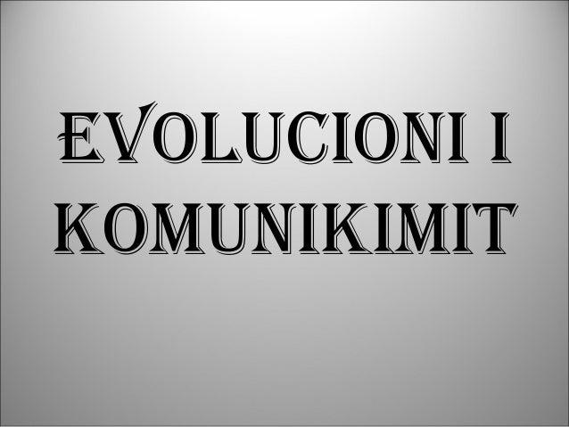 Evolucioni i komunikimit