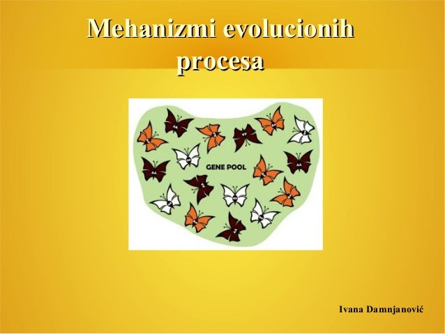 Mehanizmi evolucionihMehanizmi evolucionih procesaprocesa Ivana Damnjanović