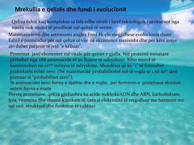 Mrekullia e qelizës dhe fundi i evolucionit Qeliza është kaq komplekse sa bile edhe niveli i lartë teknologjik i arritur s...