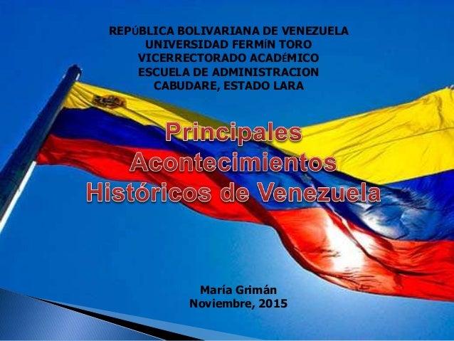 REPÚBLICA BOLIVARIANA DE VENEZUELA UNIVERSIDAD FERMÍN TORO VICERRECTORADO ACADÉMICO ESCUELA DE ADMINISTRACION CABUDARE, ES...