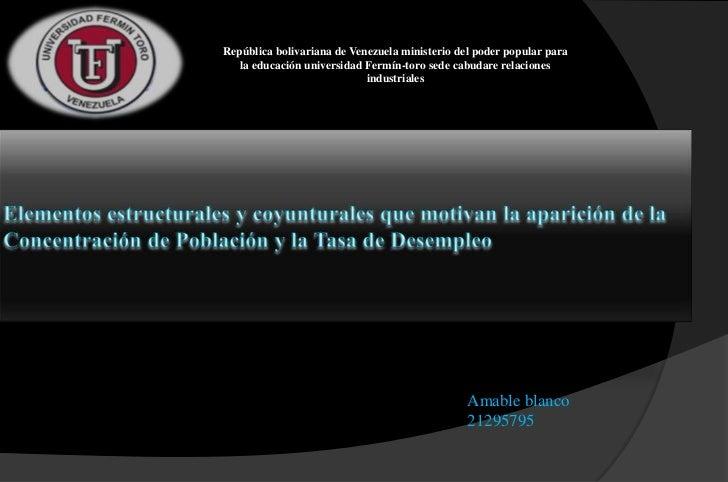 República bolivariana de Venezuela ministerio del poder popular para   la educación universidad Fermín-toro sede cabudare ...