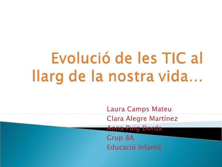 Laura Camps Mateu Clara Alegre Martínez Anna Puig Dorda Grup 8A Educació Infantil