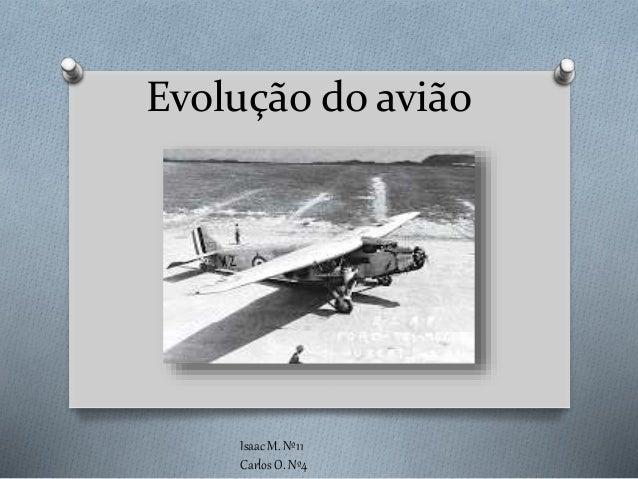 Evolução do avião Isaac M. Nº11 Carlos O. Nº4