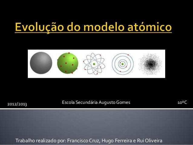 2012/2013               Escola Secundária Augusto Gomes                   10ºC   Trabalho realizado por: Francisco Cruz, H...