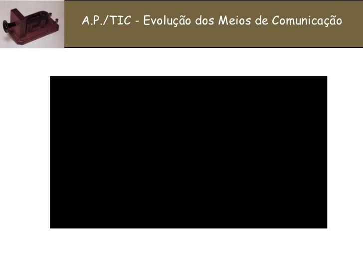 A.P./TIC - Evolução dos Meios de Comunicação