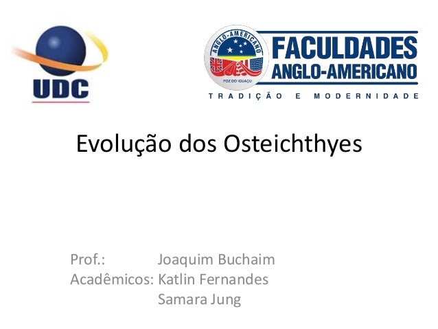 Evolução dos Osteichthyes Prof.: Joaquim Buchaim Acadêmicos: Katlin Fernandes Samara Jung