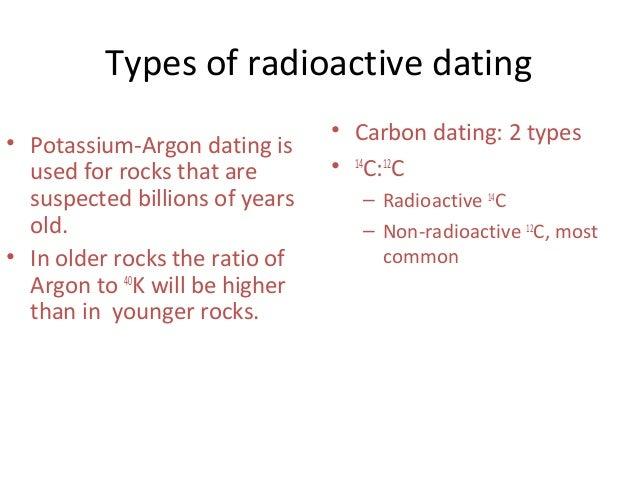 3 types of radiometric dating