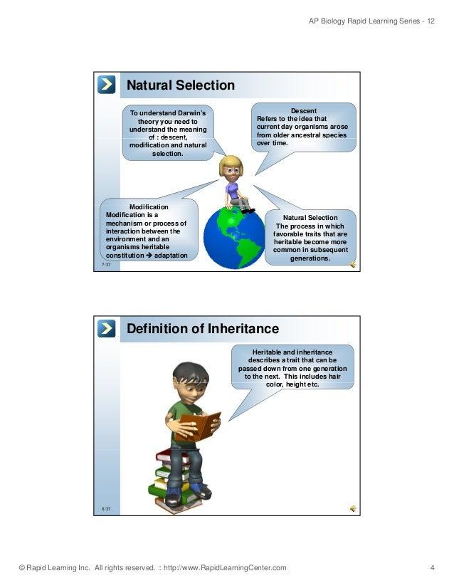 Darwin S Theory Of Natural Selection Segregation