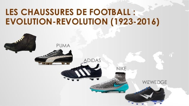LES CHAUSSURES DE FOOTBALL : EVOLUTION-REVOLUTION (1923-2016) PUMA ADIDAS NIKE WIZWEDGE