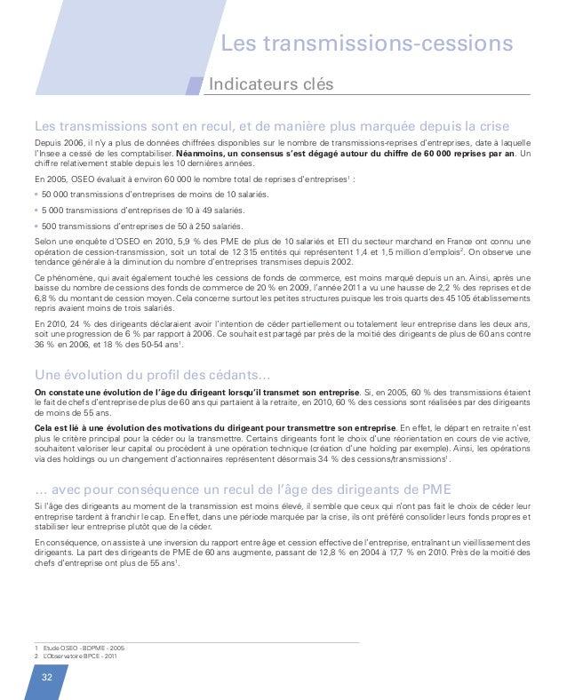 Evolution des PME depuis 10 ans