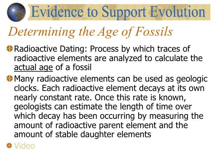 Radiometric dating process