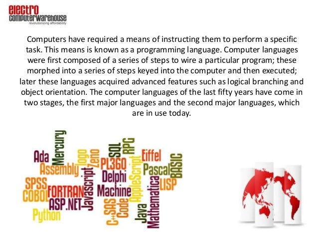 In 1957, the first of the major languages appeared in the form of FORTRAN. Its name stands for FORmula TRANslating system....