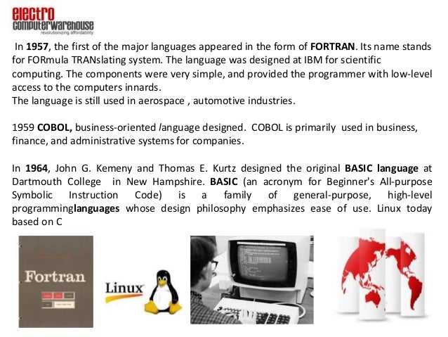 the evolution of computer programming languages Programming language 1 is a high-level programming language designed for scientific, engineering, and business applications it is one of the most feature-rich programming languages and one of the very first in the highly-feature-rich category.