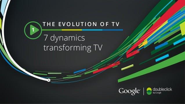 7 dynamics transforming TV THE EVOLUTION OF TV 1