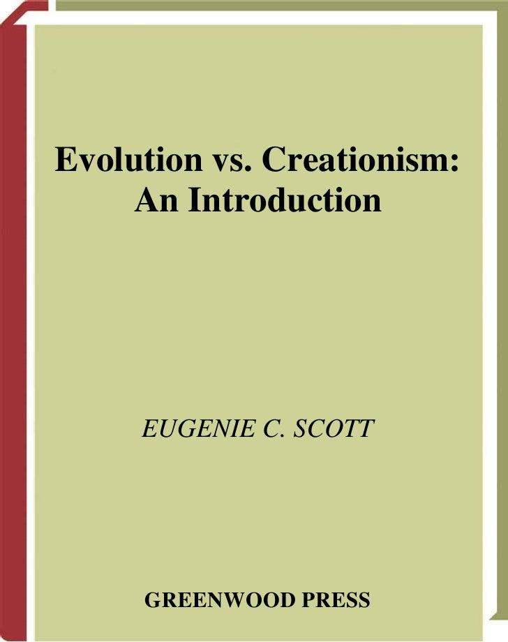 Creationism Vs. Evolutionism