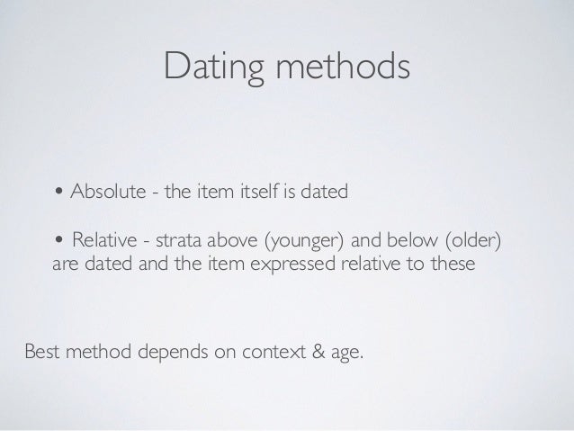 Stratigraphy absolute dating examples 7