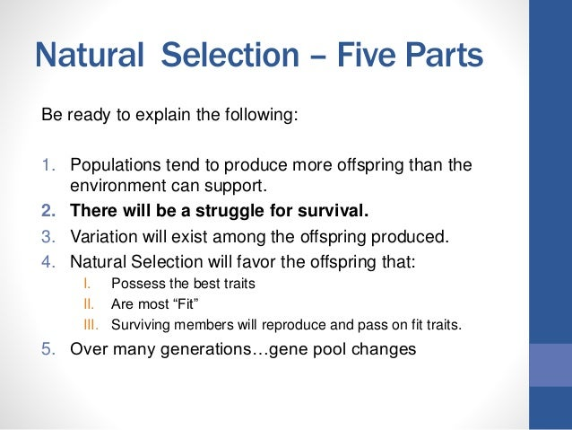 Why Is Genetic Variation Required For Natural Selection
