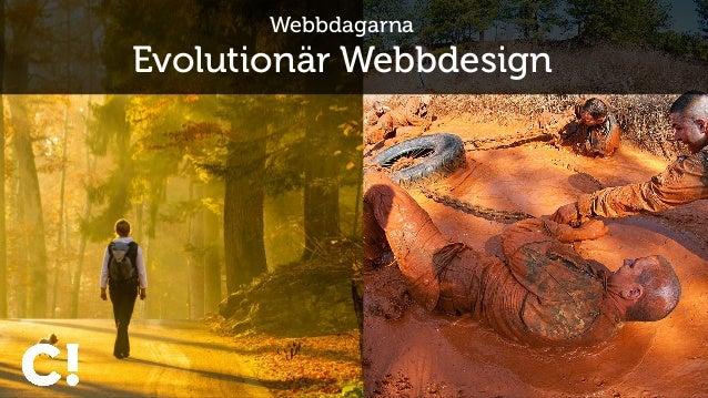 Webbdagarna Evolutionär Webbdesign