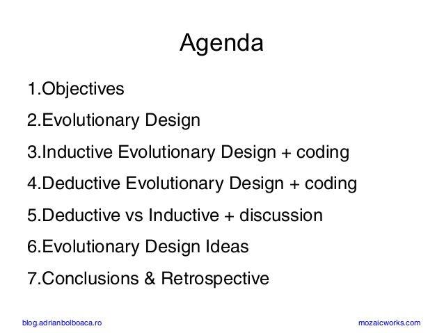 Evolutionary Design: Inductive and Deductive (Paris, oct 2017) Slide 2