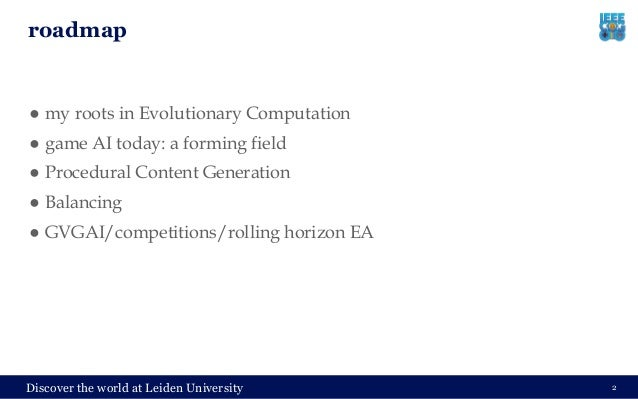 The Role of Evolutionary Computation in Game AI Slide 2