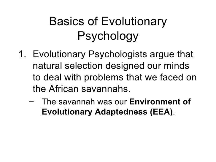 Evolutionary psychology essay