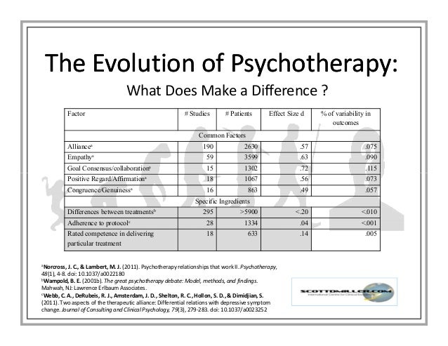 What are the Core Tasks of Psychotherapy? A Presentation