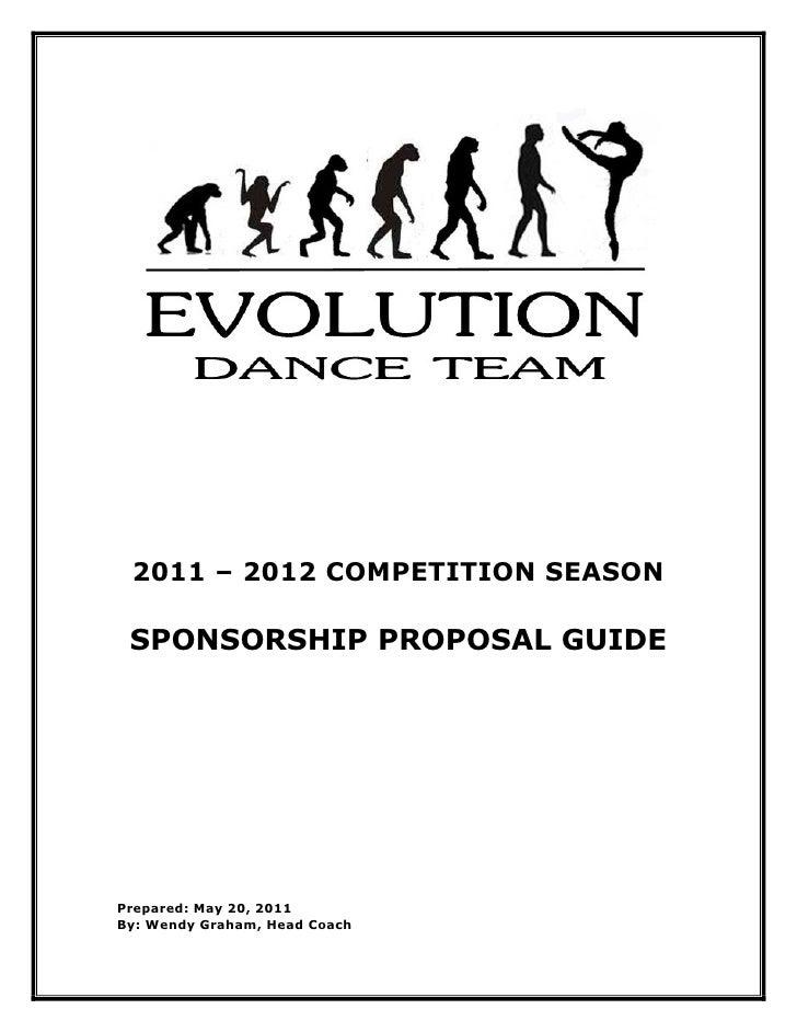 evolution dance team sponsorship proposal 2011 2012