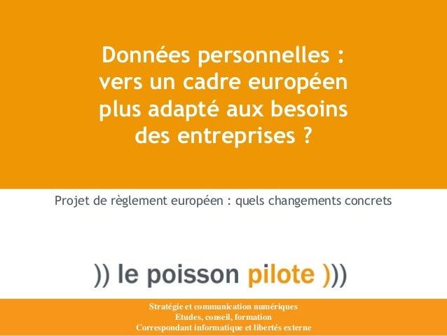 Données personnelles : vers un cadre européen plus adapté aux besoins des entreprises ?  Stratégie et communication numéri...