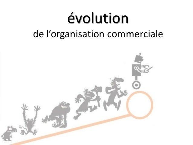 évolution de l'organisation commerciale