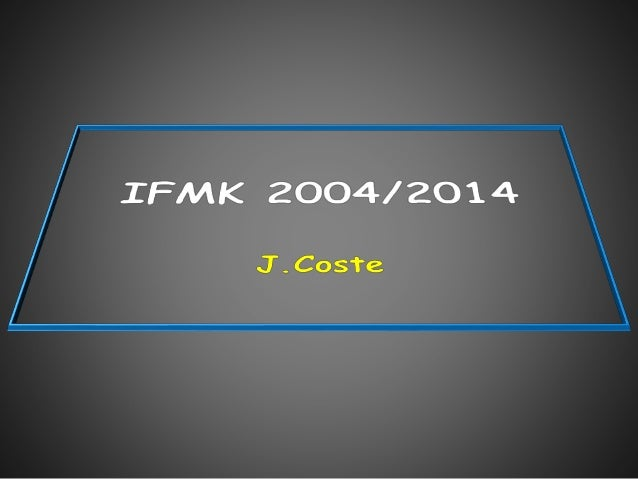 IFMK 2004/2014 Os Cartilage Ménisques Tendon Rotule Ligaments
