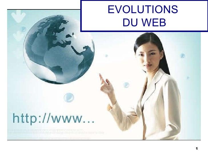 EVOLUTIONS  DU WEB