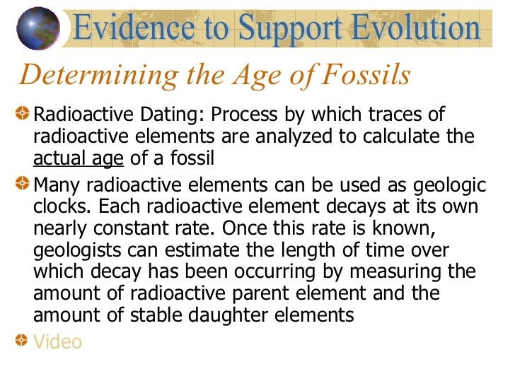 What does radioactive dating enables geologists to do