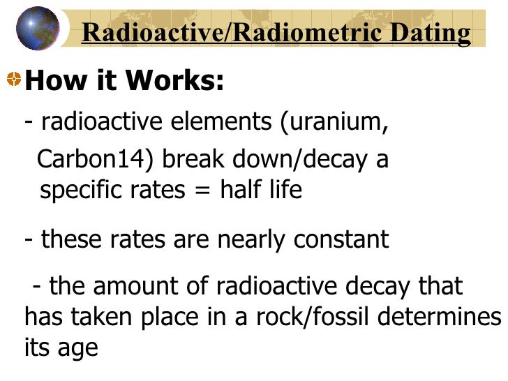 What is the definition of radioactive dating in biology