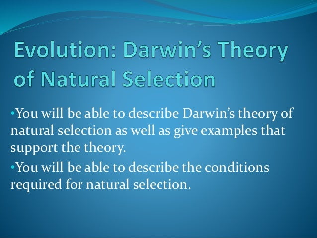 Darwin S Theory Of Natural Selection Published