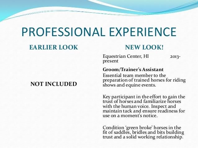 horse groom resume