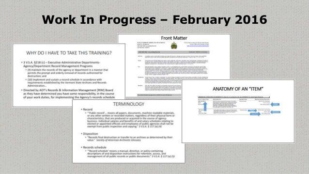 Evolution of Basics of Recordkeeping Training Slide 2