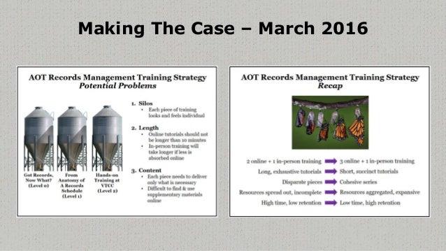 Evolution of Basics of Recordkeeping Training Slide 3