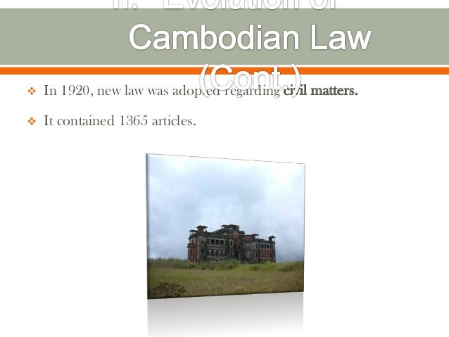    In 1920, new law was adopted regarding civil matters.   It contained 1365 articles.