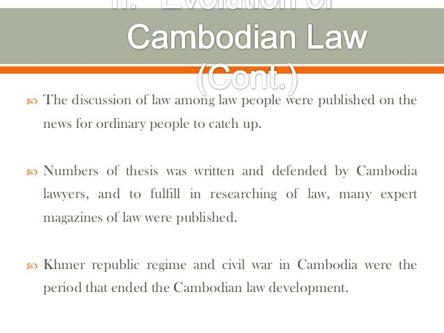    The discussion of law among law people were published on the    news for ordinary people to catch up.   Numbers of th...
