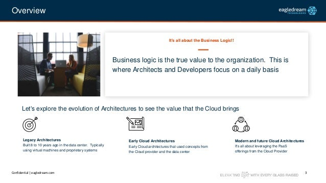 The Evolution of Cloud Architectures: Focusing More on the Business Logic Slide 3