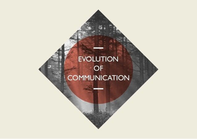 EVOLUTION     OFCOMMUNICATION