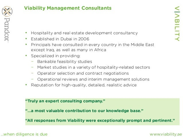 www.viability.ae…when diligence is due Viability Management Consultants • Hospitality and real estate development consult...