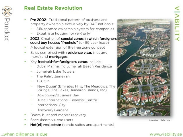 www.viability.ae…when diligence is due Real Estate Revolution • Pre 2002: Traditional pattern of business and property ow...