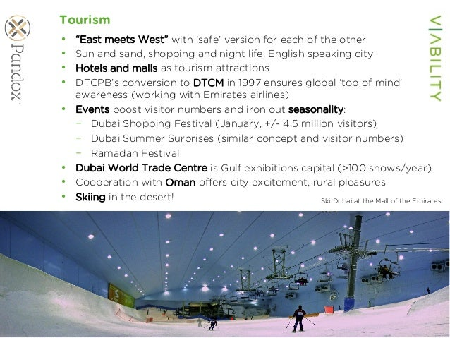 """www.viability.ae…when diligence is due Tourism • """"East meets West"""" with 'safe' version for each of the other • Sun and s..."""