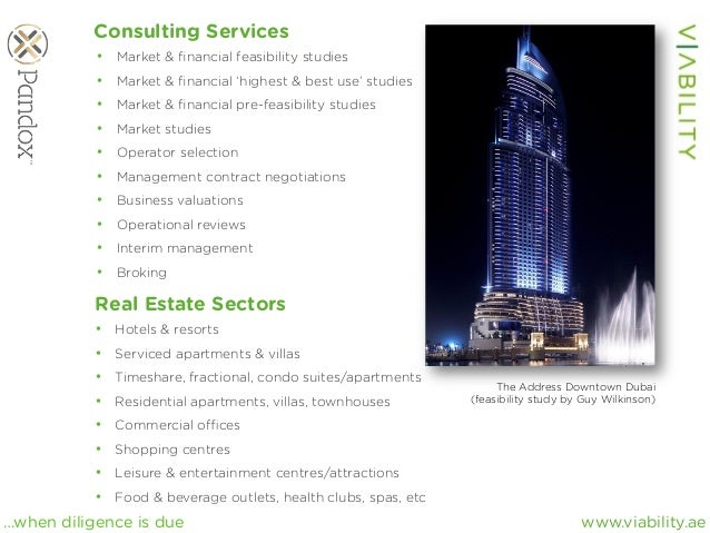 www.viability.ae…when diligence is due Consulting Services • Market & financial feasibility studies • Market & financial '...